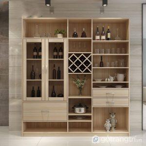 Tủ rượu gỗ công nghiệp thiết kế tiện dụng TUR-5578