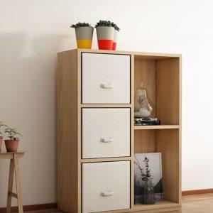 Giá sách trang trí nhỏ gọn bằng gỗ GS-2201