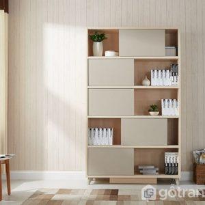 Giá sách gỗ đẹp phong cách hiện đại GS-2159