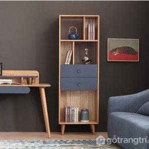 Giá sách bằng gỗ hiện đại đẹp GS-2236