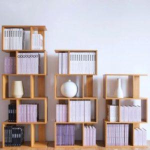 Giá sách bằng gỗ cho phòng khách GS-2227