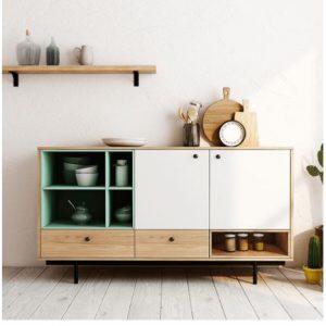 Tủ bếp hiện đại bằng gỗ công nghiệp TB-5502