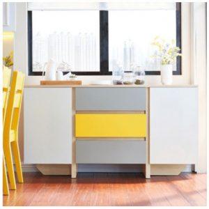 Tủ bếp gia đình nhỏ gọn thiết kế đẹp TB-5543