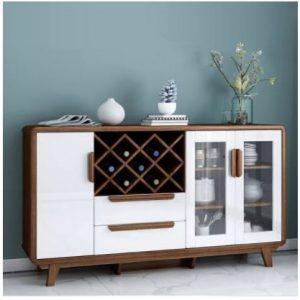 Tủ rượu phòng khách gỗ MDF hiện đại TUR-5704