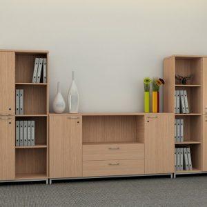Tủ hồ sơ văn phòng gỗ MDF THS-011