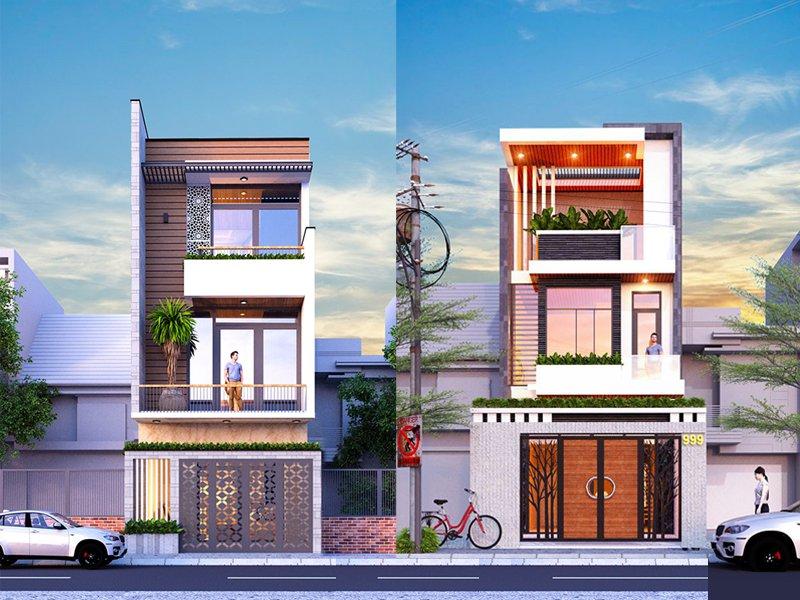 Nhà đẹp mẫu nhà phố 3 tầng đẹp hiện đại